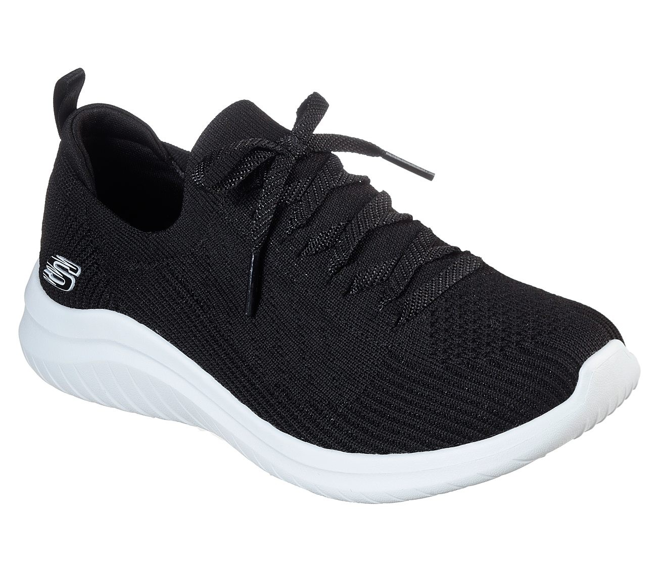 WHITE SKECHERS Womens Ultra Flex 2.0 Sneaker