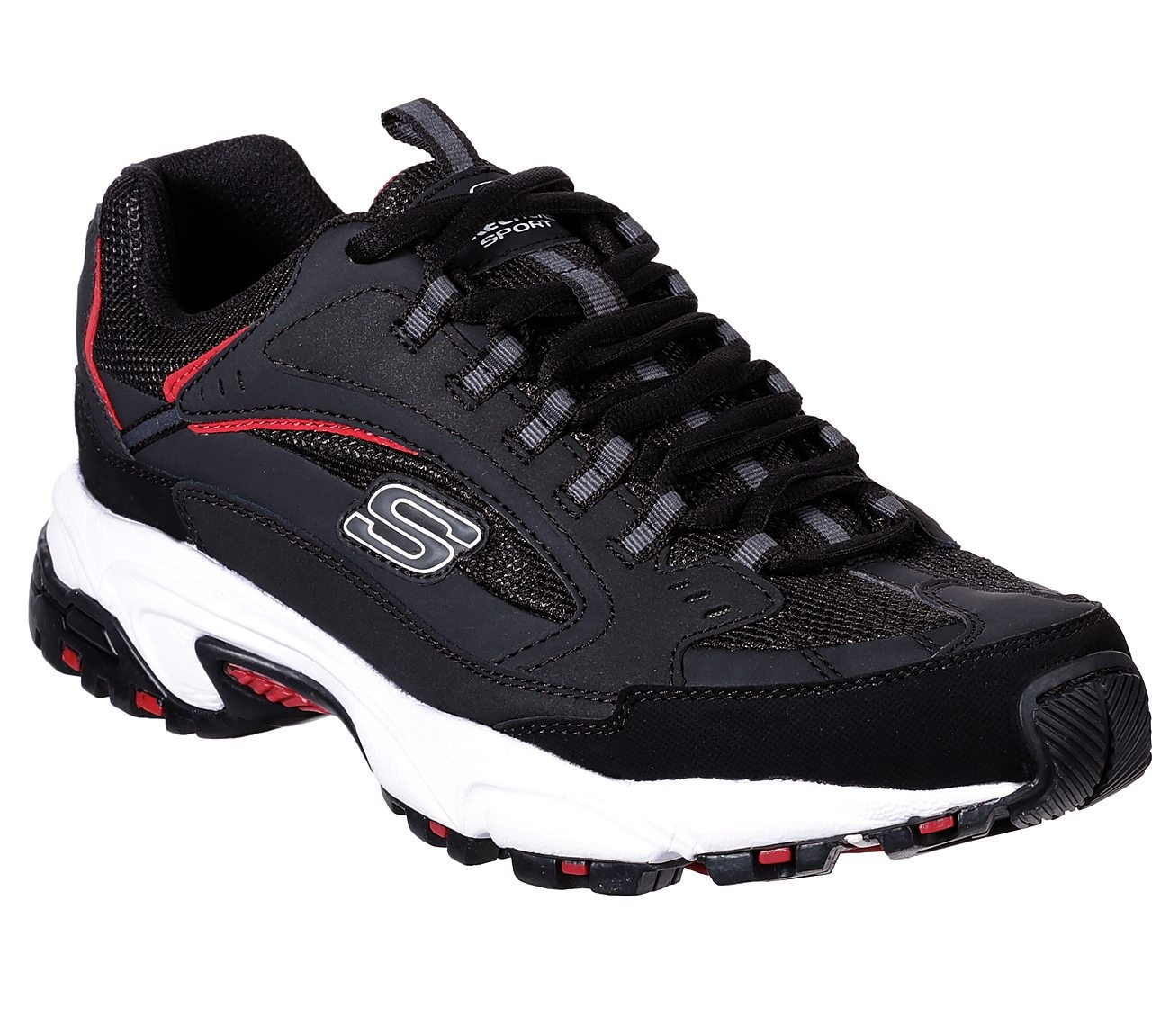 Skechers Sport STAMINA - Joggesko - black/red